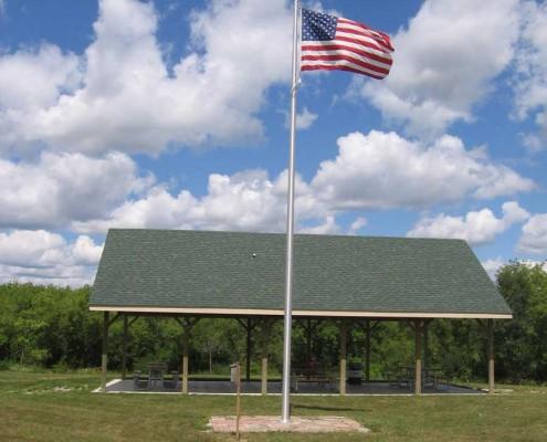 Sandra Richardson Picnic Pavilion Flagpole