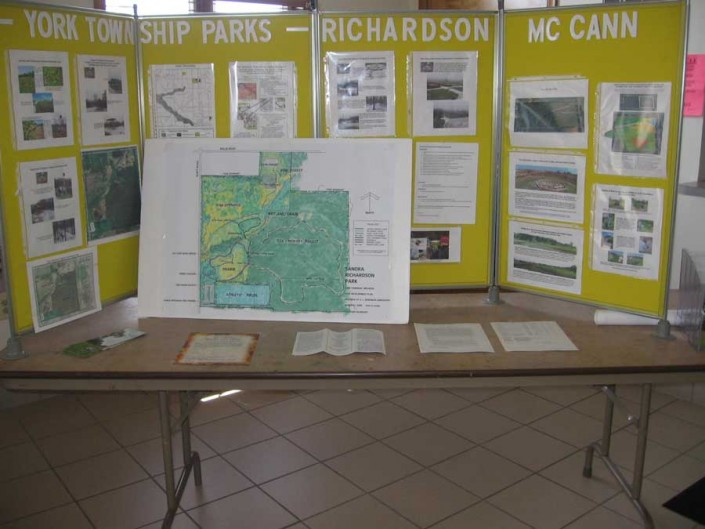 York Township Parks and Recreation Info Table
