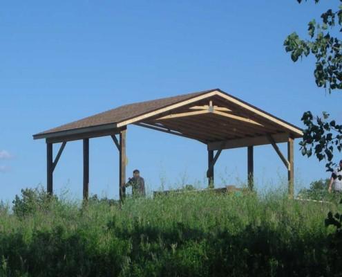 Mary McCann Teaching Pavilion Construction